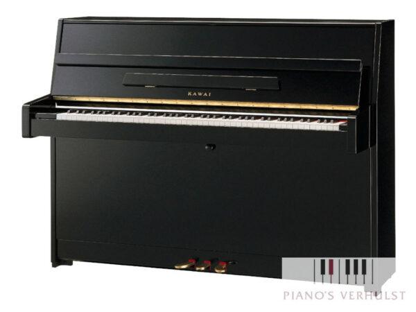 Kawai K-15E piano - akoestische piano in zwart hoogglans - studiepiano voor beginner