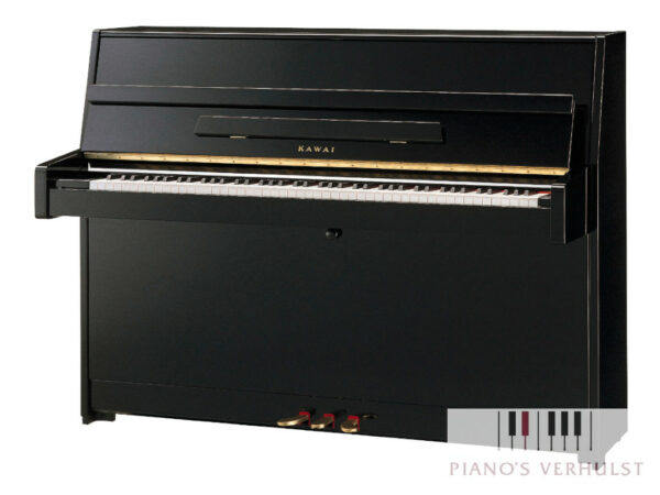 Kawai K-15E piano in zwart hoogglans