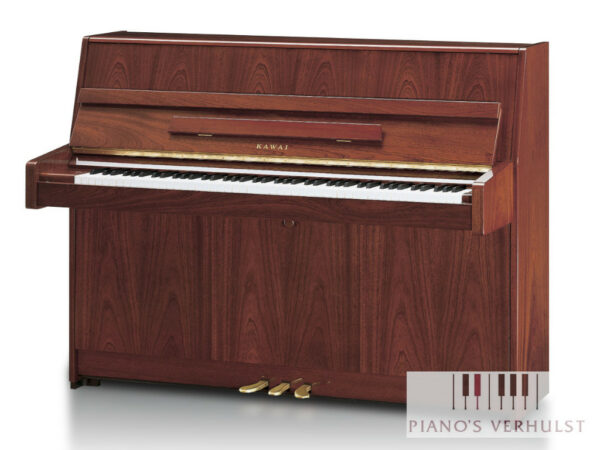 Kawai K15E PM - akoestische piano in hoogglans mahonie