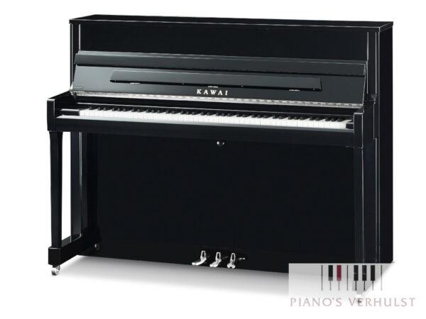 Kawai K-200 - akoestische piano in zwart hoogglans en chroom afwerking