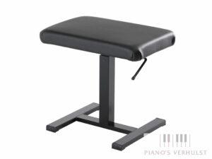 Discacciati pianokruk 805 hydraulisch met zitting in zwart kunstleer