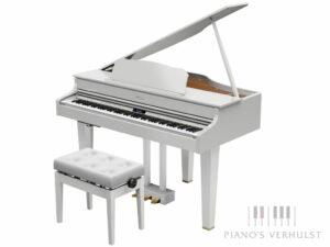 Roland digitale vleugelpiano GP 607 WH - vleugelpiano wit met afwerking in messing