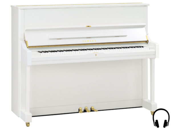 Yamaha U1 SH2 PWH - Yamaha piano met silent systeem in wit hoogglans - Silent Piano Yamaha