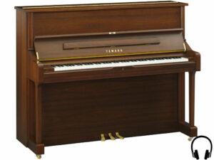 Yamaha U1 SH2 SAW - Yamaha piano met silent systeem in satin american walnut - Silent Piano Yamaha