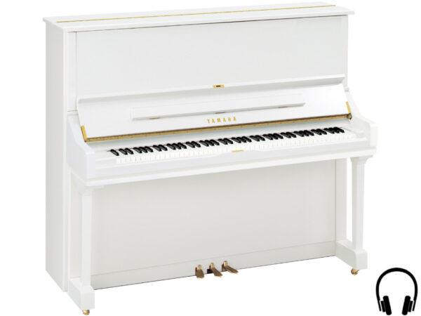Yamaha U3 SH2 PWH - Yamaha piano met silent systeem in wit hoogglans - Silent piano Yamaha