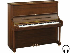 Yamaha U3 SH2 SAW - Yamaha piano met silent systeem in satin american walnut - Silent piano Yamaha