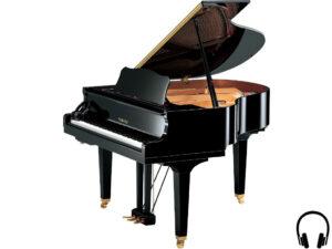 Yamaha GB1 SC2 PE - Yamaha kleine vleugelpiano met silent systeem - stilakoestische vleugelpiano