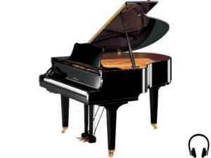 Yamaha GC1 SH2 PE - Yamaha stilakoestische vleugelpiano - vleugelpiano met silent systeem