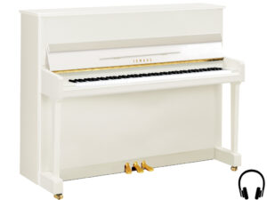 Yamaha P116 SH2 PWH - Yamaha piano met silent systeem in wit hoogglans en messing - Yamaha Silent Piano