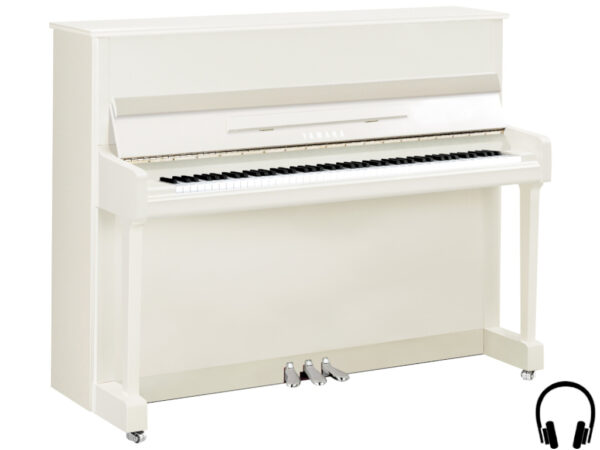 Yamaha P116 SH2 PWHC - amaha piano met silent systeem in wit hoogglans en chroom - Yamaha Silent Piano