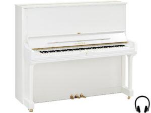 Yamaha YUS3 SH2 PWH - Yamaha piano met silent systeem in wit hoogglans - silent piano Yamaha