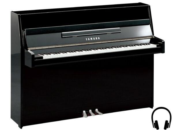 Yamaha b1 SC2 PEC - Yamaha piano met silent systeem in zwart hoogglans en chroom - Yamaha Silent Piano