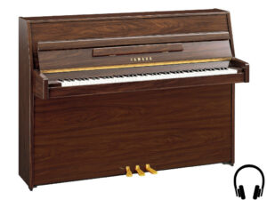 Yamaha b1 SC2 PW - Yamaha piano met silent systeem in polished walnut - Yamaha Silent Piano