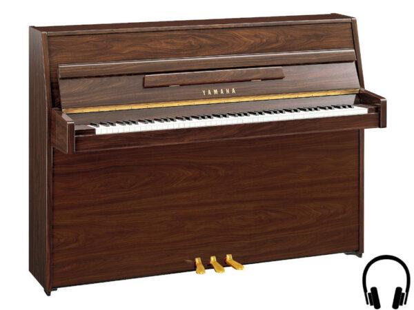 Yamaha b1 SC2 PW - Yamaha piano met silent systeem in polished walnut - Yamaha Silent Piano