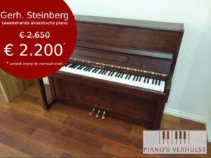 Tweedehands piano kopen voor beginners - Gehr. Steinberg kwaliteitsvolle tweedehands piano te koop bij Piano's Verhulst
