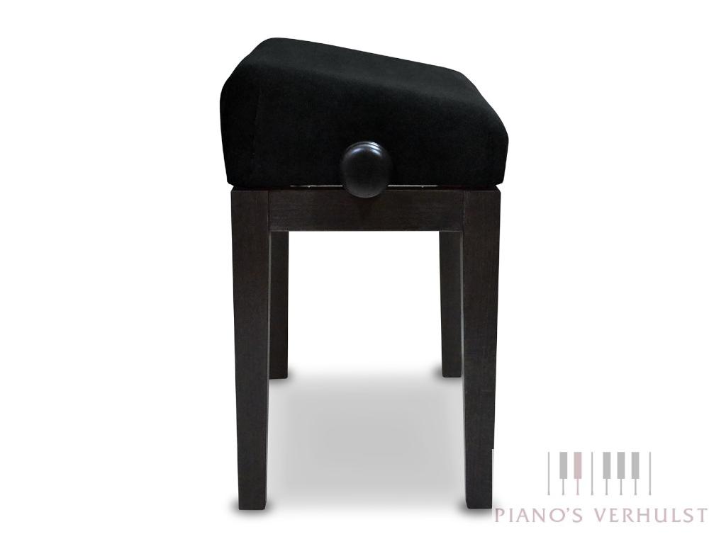 Ergonomische bureaustoel Discacciati met stoffen zitting in zwart hoogglans