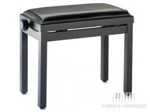 Pianobank keyboard of digitale piano - zwart mat met zitting in kunstleer